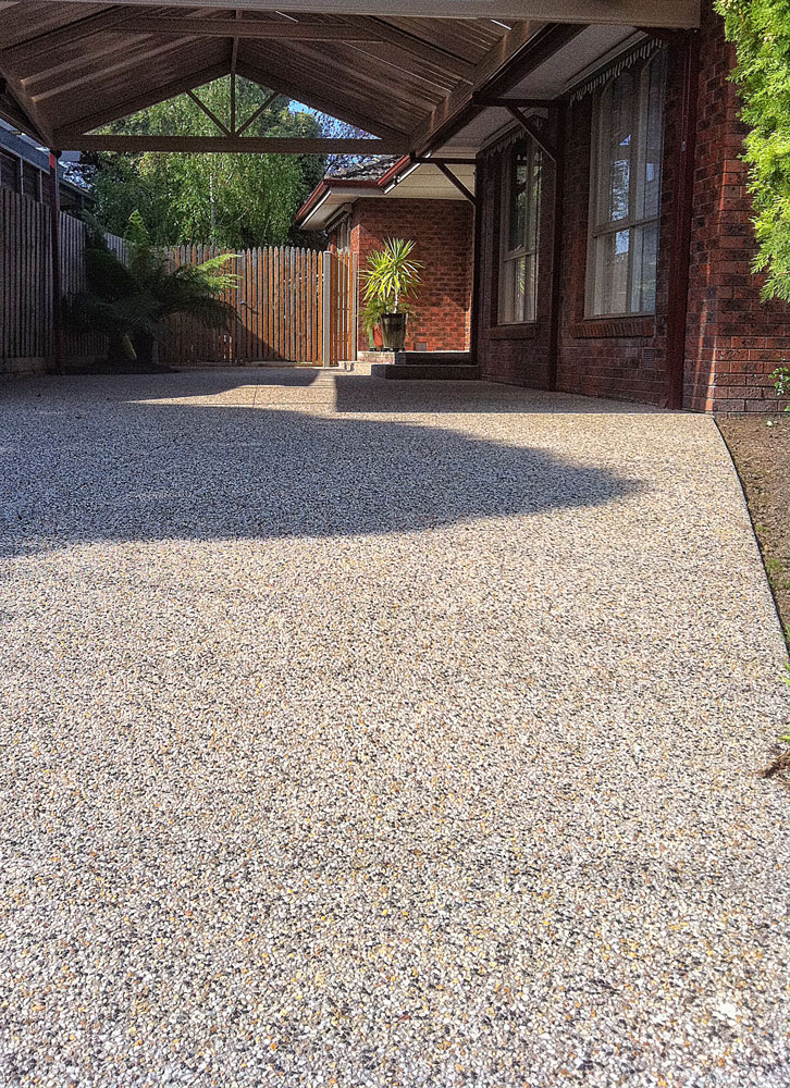 Exposed Aggregate Concrete Driveway Melbourne Exposed